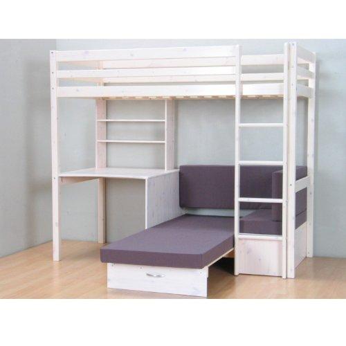 Thuka Hochbett 90200 Kiefer Massiv Bett Kinderbett Gästebett
